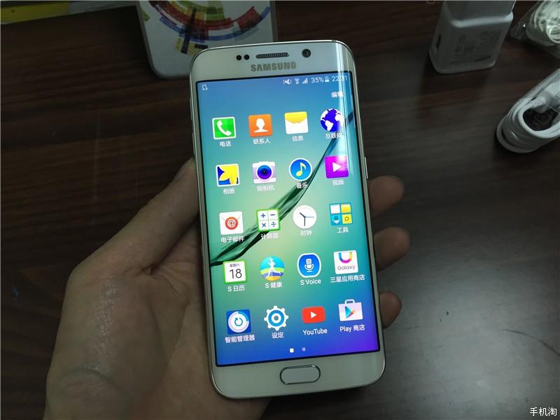 s6 edge开箱_SamsungGALAXYS6edge开箱双曲面侧萤幕